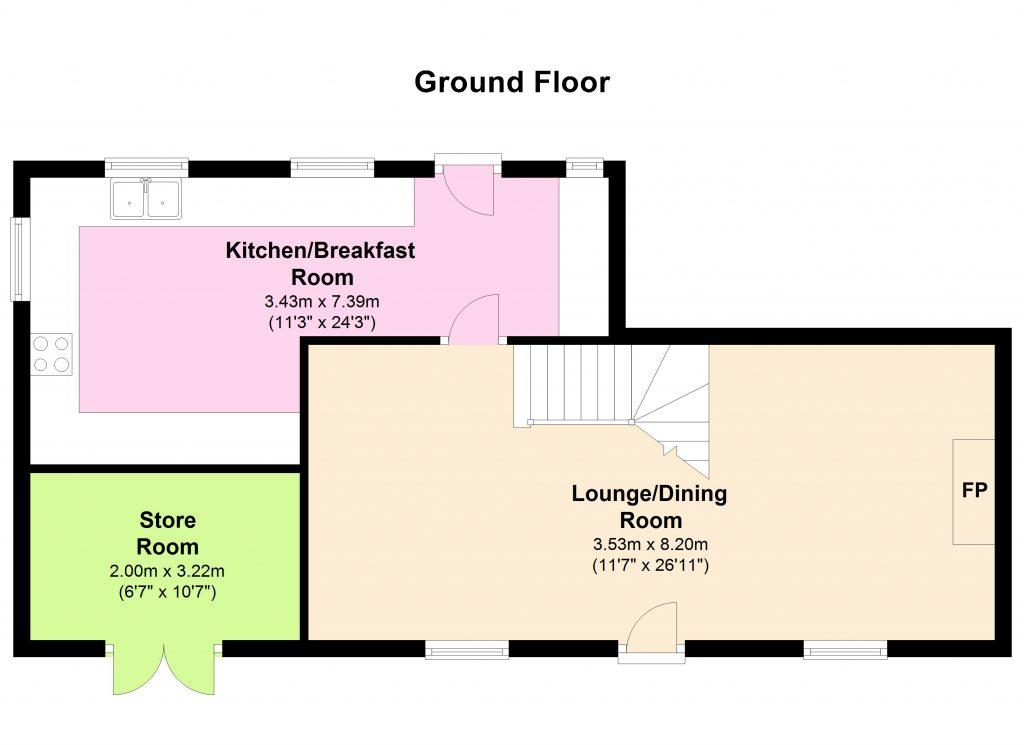 White Cottage, Saundersfoot - Floor 0